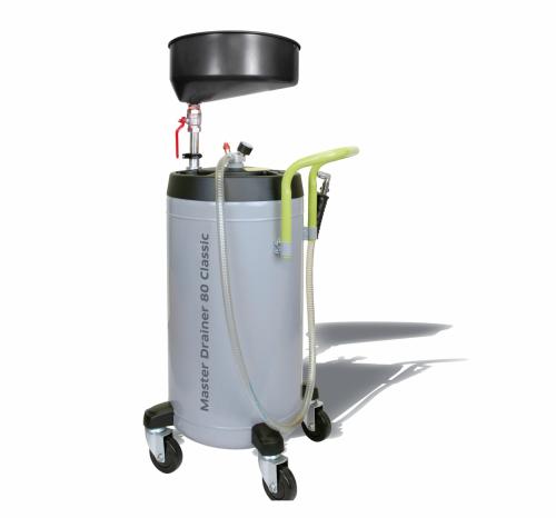 Altölauffanggerät mit höhenverstellbarer Auffangwanne
